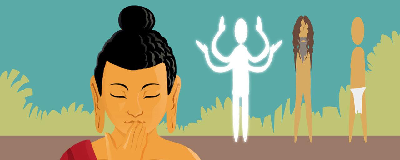 Cómo un dios, un nudista y cinco ascetas rompieron el silencio del Buda