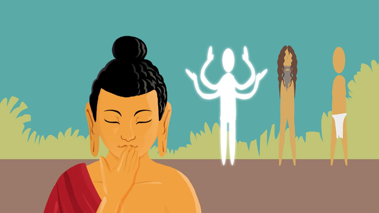 Cómo un dios, un nudista y cinco ascetas rompieron el silencio del Buddha