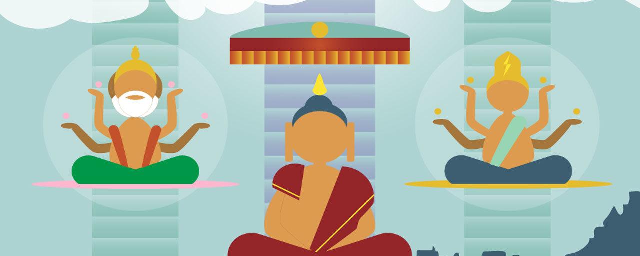 Lha Bab Duchen, la festividad budista por el descenso del Buddha del reino celestial