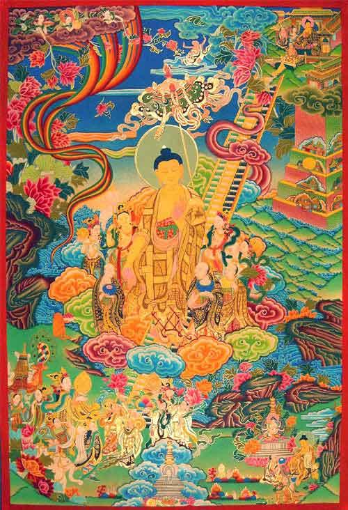lha bab duchen descenso del buddha