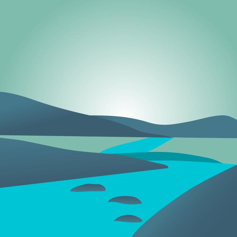 rio con piedras paso a paso kamikaze espiritual
